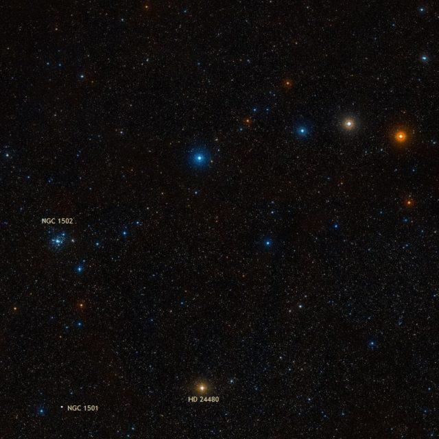 Kemble's Cascade, ngc 1501, Oyster Nebula
