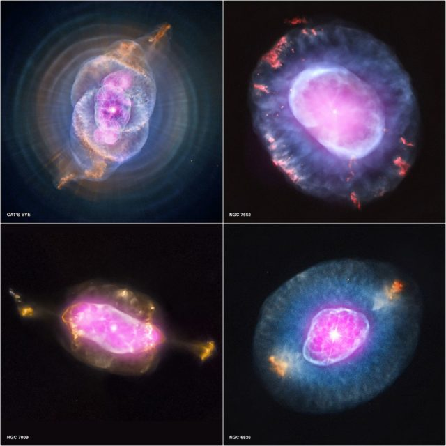 saturn nebula,cat's eye nebula,ngc 7662,ngc 6826