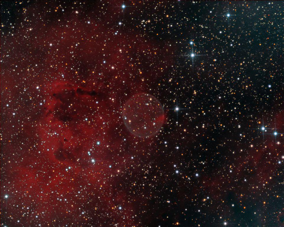 PN G75.5+1.7, planetary nebula in cygnus